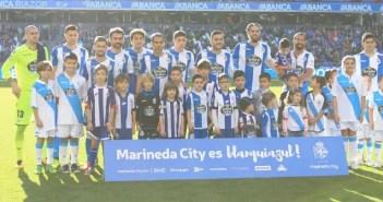 Once inicial del Deportivo ante el Athletic de Bilbao