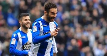 Adrián celebra su gol ante el Levante