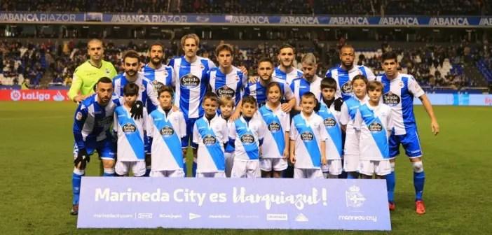 Once inicial del Deportivo ante el Valencia