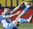 Andone estira durante el Villarreal - Deportivo