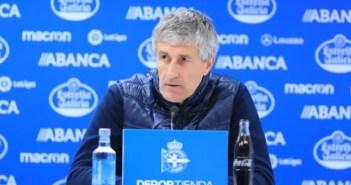 Quique Setién, entrenador del Betis, en rueda de prensa