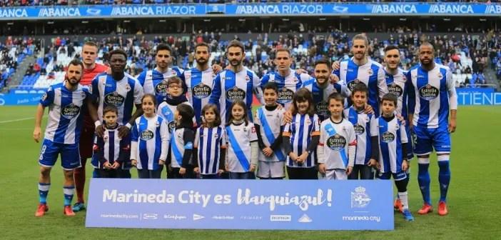 Once inicial del Deportivo ante el Eibar