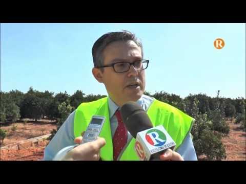 Comos ha visitat les obres de connexió de les fases II i III de l'abastiment d'aigua potable a la comarca de la Ribera