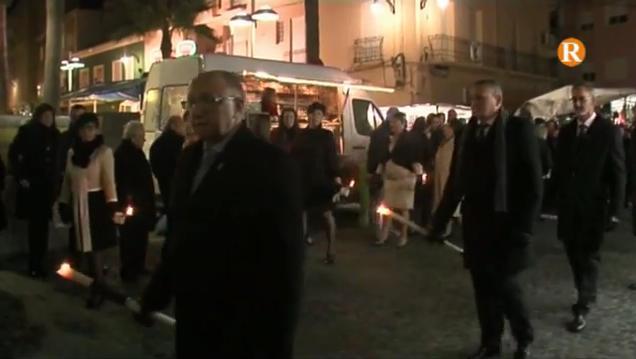 Guadassuar celebra el dia del patró amb una solemne processó i molts focs artificials