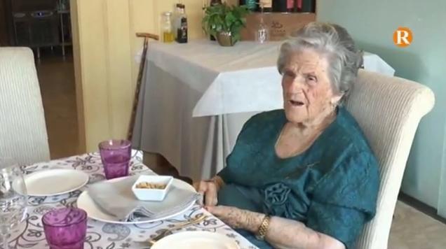 Antonia Tomás celebra els seus 105 anys de vida