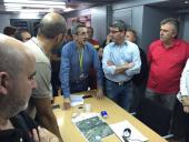 Jorge Rodríguez destaca la labor de alcaldes, concejales y voluntarios en la extinción del incendio de La Canal