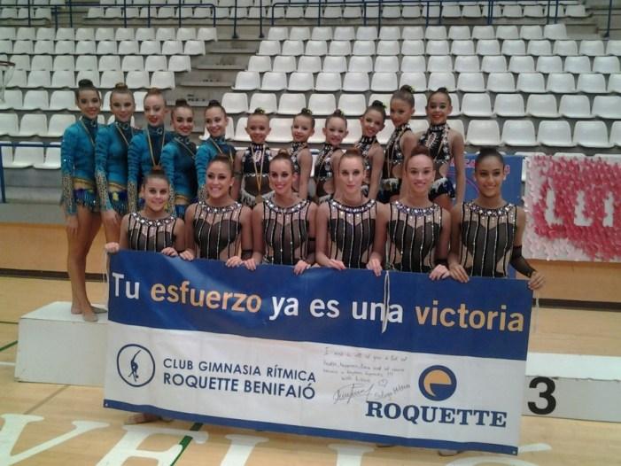 El Club Gimnasia Rítmica Roquette Benifaió se proclama Campeón y Subcampeón Provincial absoluto