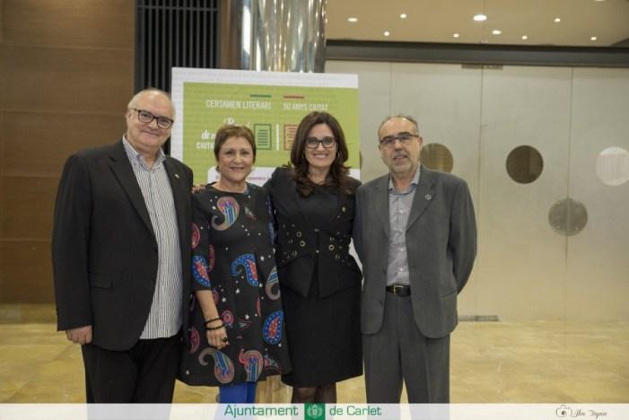 Pasqual Mas i Roser Furió guanyen el I Certamen Literari Ciutat de Carlet en narrativa i poesia