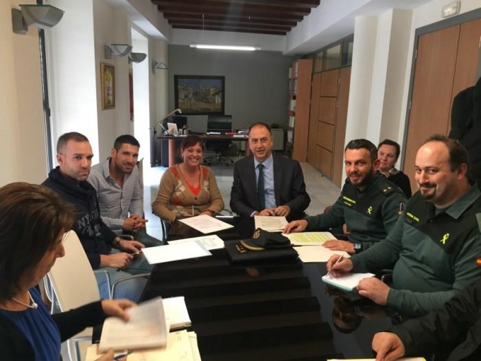 El subdelegado del Gobierno en Valencia,ha presidido hoy las juntas locales de seguridad de Almussafes y de Pobla Llarga.