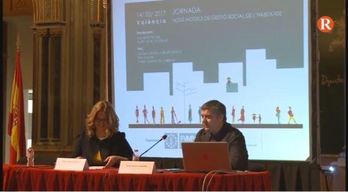 """La consellera Mª José Salvador inaugura les jornades """" Nous models de gestió social de la vivenda"""""""