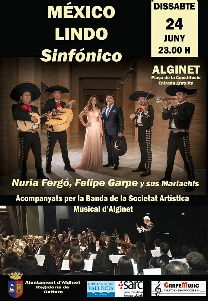 Nuria Fergó, Felipe Garpe y sus mariachis a Alginet
