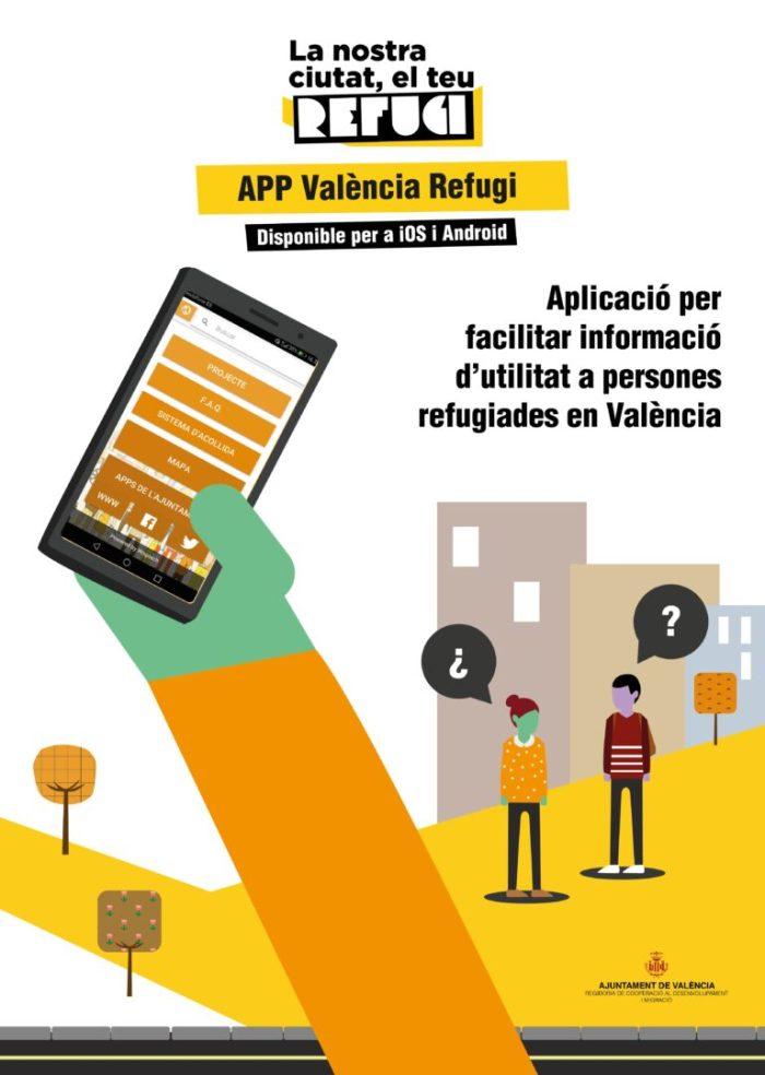 """L'aplicació """"València Refugi""""es renova amb un mapa de la ciutat i  cinc idiomes"""