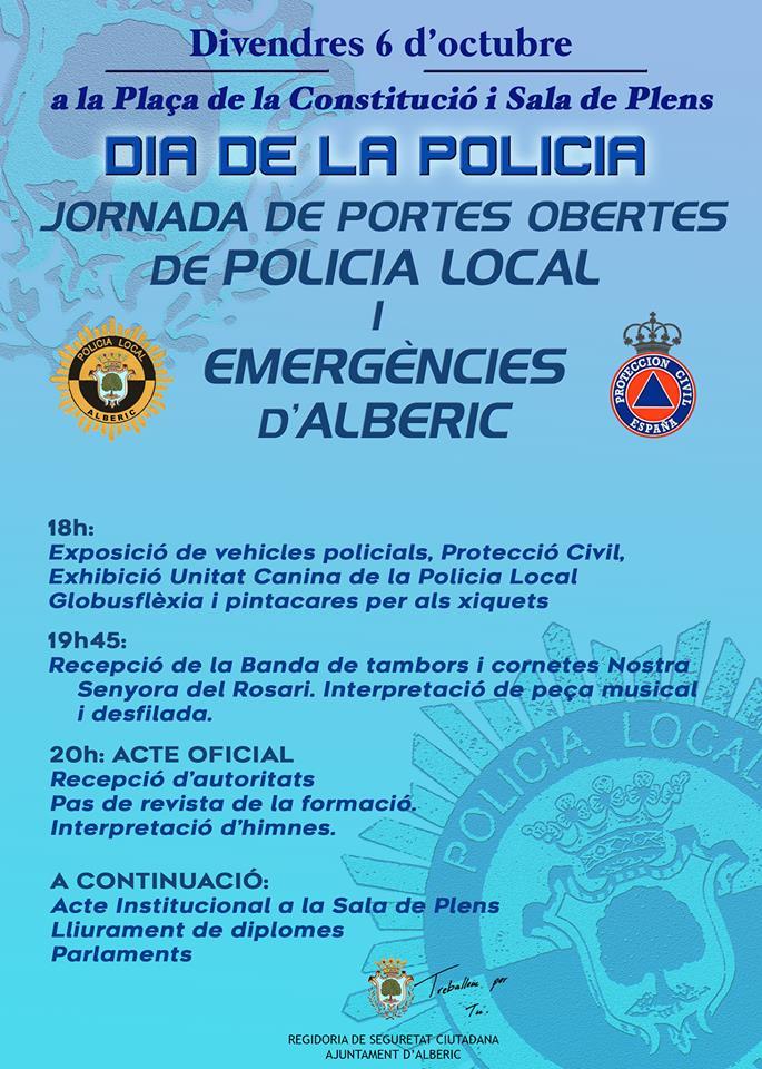 Alberic viu una intensa setmana cultural amb l'homenatge a la Policia Local