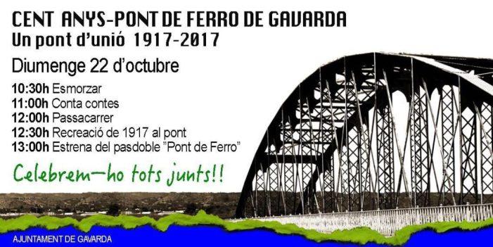 Gavarda conmemora el centenario de su puente de hierro