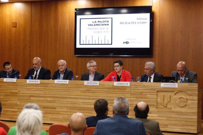 La Diputació assumeix el repte de fer de la pilota el referent de l'esport valencià i assegurar el seu futur