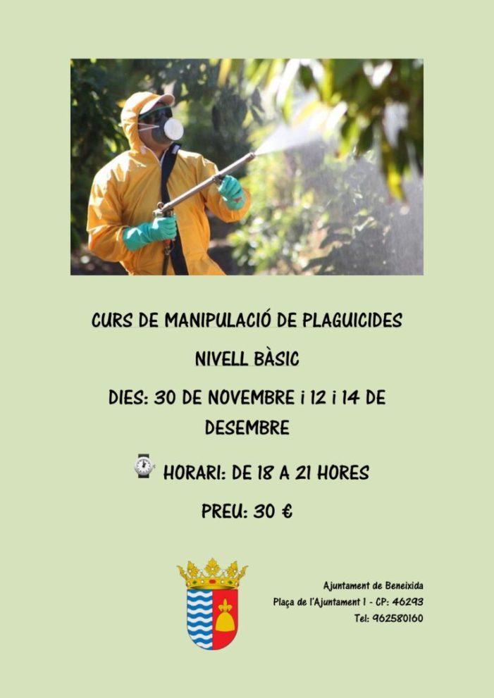 Beneixida organitza un curs de manipulador de plaguicides