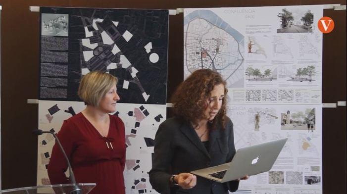 La Consellera d'Habitatge i Obres Públiques ha presentat les tres propostes seleccionades en el concurs d'idees pera l'entorn delaplaça de Bruges