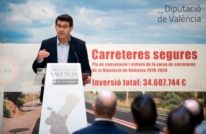 La Diputació invertirà 35 milions d'euros en 3 anys en conservació per a tenir unes carreteres més segures