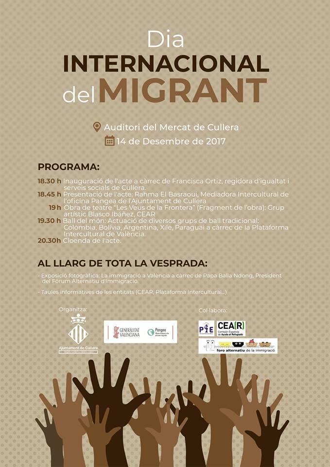Cullera celebra el Dia Internacional del Migrant