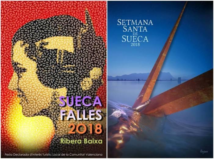 Sueca tria les imatges dels cartells anunciadors de les pròximes festes de Falles i Setmana Santa