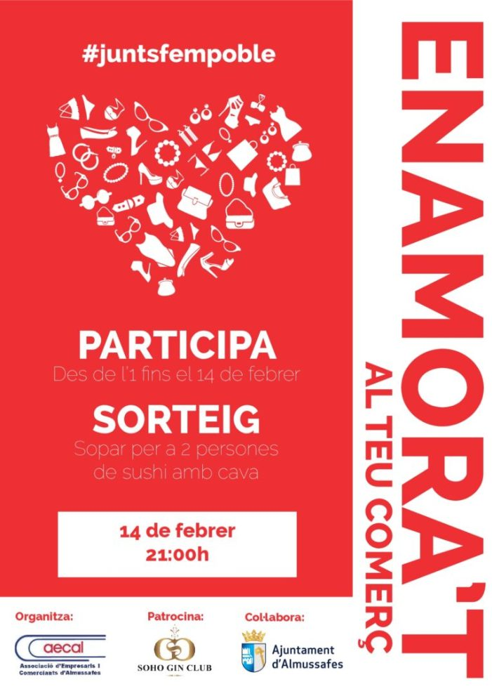 L'Associació d'Empresaris i Comerciants d'Almussafes inicia una campanya promocional coincidint amb Sant Valentí