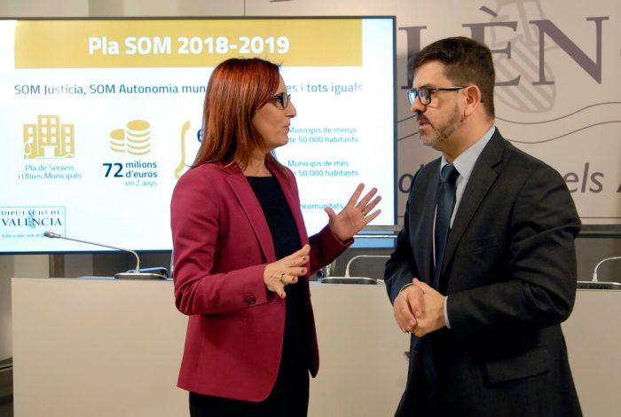 La Diputació habilita un SOM biennal que destinarà 72 milions en ajudes per a obres i serveis als municipis i mancomunitats