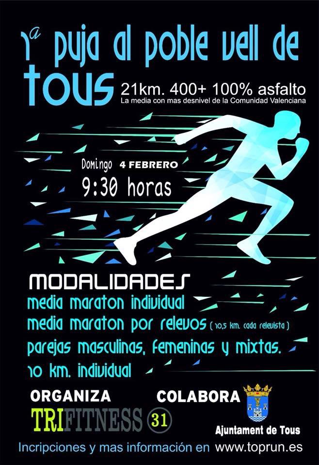 Tous acollirà la Mitja Marató d'asfalt amb major desnivell de València