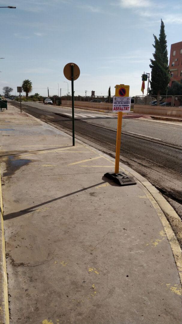 Almussafes enceta les obres d'asfaltat de la ronda H. Lluis Duart Alabarta