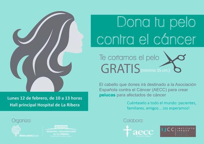 """El Hospital de La Ribera organiza el evento """"Dona tu pelo contra el Cáncer"""" para hacer pelucas para pacientes oncológicos"""