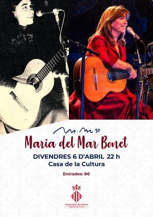 Maria del Mar Bonet actuarà en les Festes Majors de Cullera