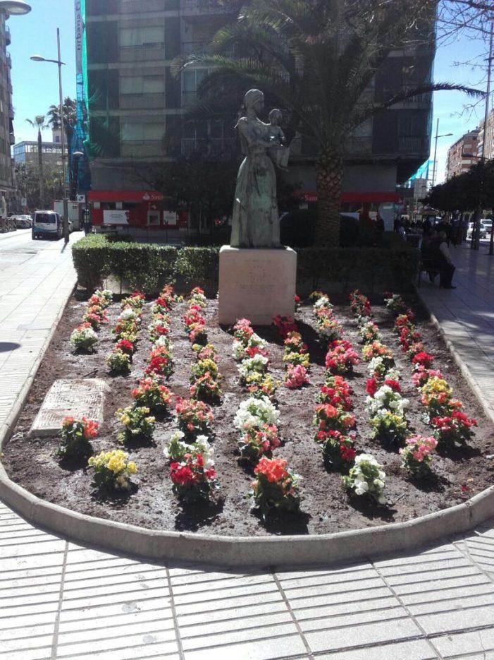 Alzira s'ompli de color amb 5.000 flors repartides per diferents zones de la ciutat