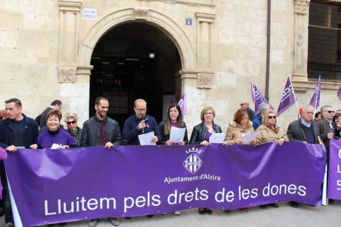 Alzira ,manifest llegit el 8 de març de 2018. Dia de la Dona