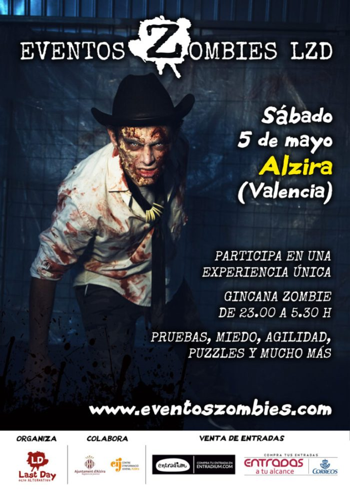 Alzira acollirà un esdeveniment zombi el proper 5 de maig