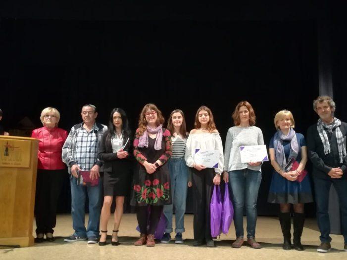 Mati Devesa, Julia Díaz i Sonia Mele, grs de Narrativa bruanyadores del VII Concueu amb enfocament de gènere Isabel de Villena