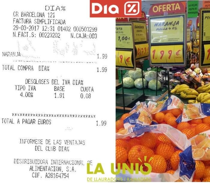 La AICA obri expedient sancionador a la cadena DIA per incompliment de la Llei de la Cadena Alimentària després de la denúncia de LA UNIÓ