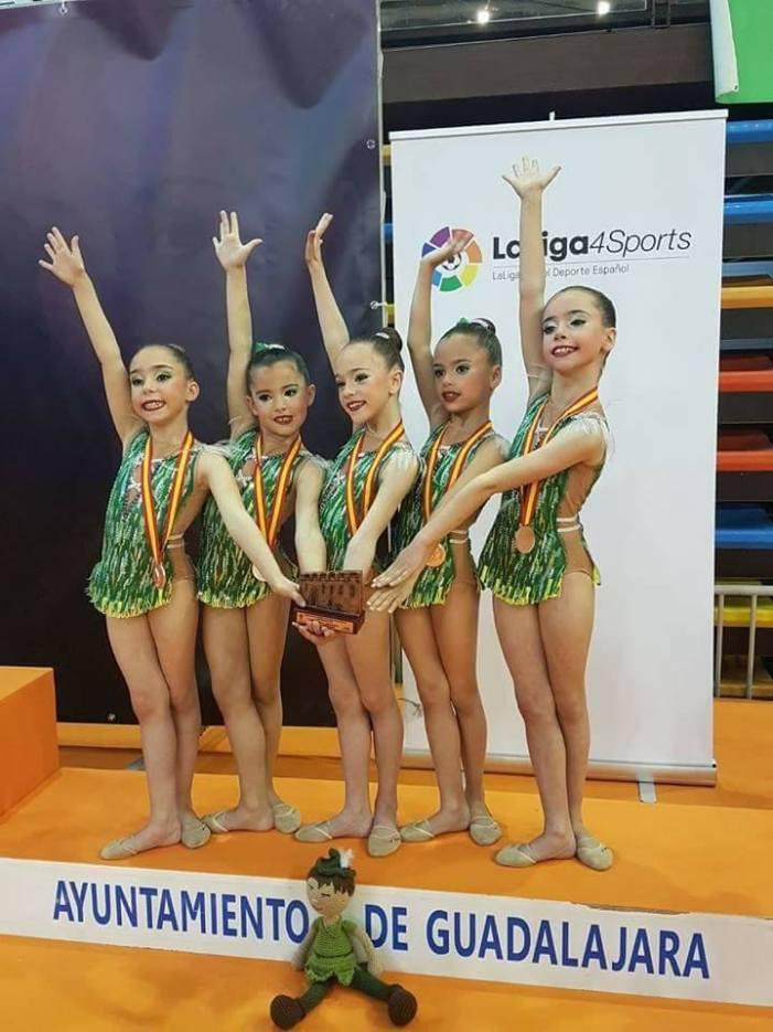 Les Benjamines del CEGA, bronze en el Campionat d'Espanya de Gimnàstica Rítmica