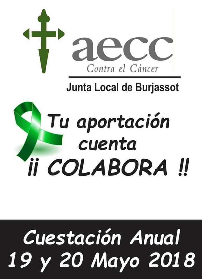 Burjassot celebra aquest cap de setmana el seu cuestació anual en la lluita contra el càncer