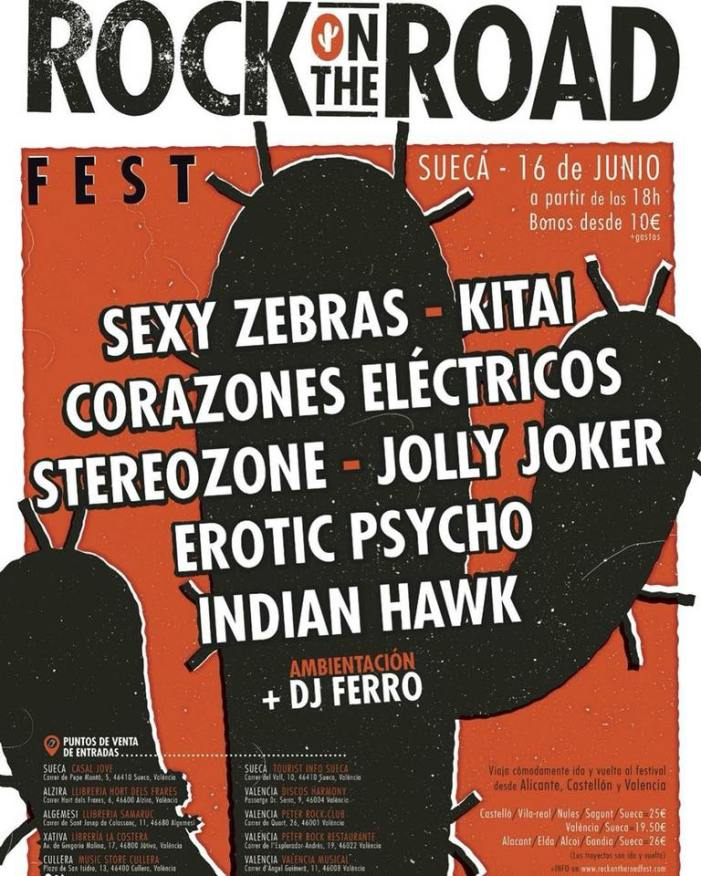 Sueca bullirà amb el Rock on the Road Fest
