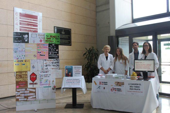 L'Hospital d'Alzira se suma a la celebració del Dia Mundial Sense Tabac