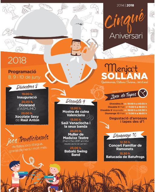 El Menja't Sollana: un diàleg entre la cultura, l'oci i la gastronomia.