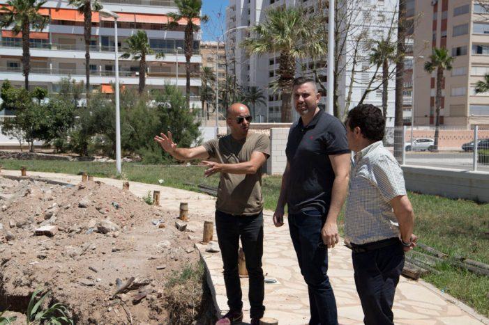 Cullera inicia la construcció d'un skatepark en el parc urbà de Sant Antoni