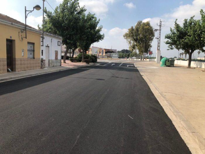 L'Ajuntament d'Algemesí millora la pavimentació i el drenatge d'aigües de l'avinguda de Carlet