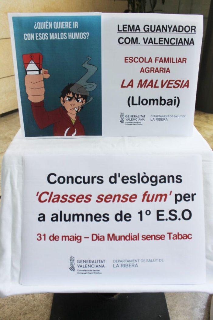 El Centre de Salut Pública d'Alzira prevé el tabaquisme entre els escolars de la Ribera