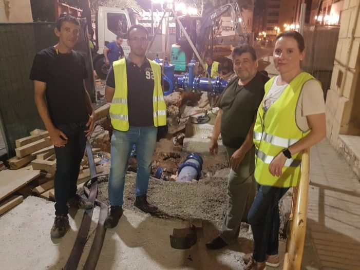Finalitzen amb èxit les obres de renovació del clavegueram del carrer Hort dels Frares