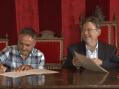 Puig signa un conveni entre la Generalitat i els gremis, carrers i convents organitzadors del 54 Sexenni de Morella