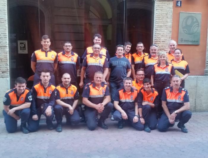 La Generalitat Valenciana agraïx la seua tasca a l'agrupació de Protecció Civil d'Alzira