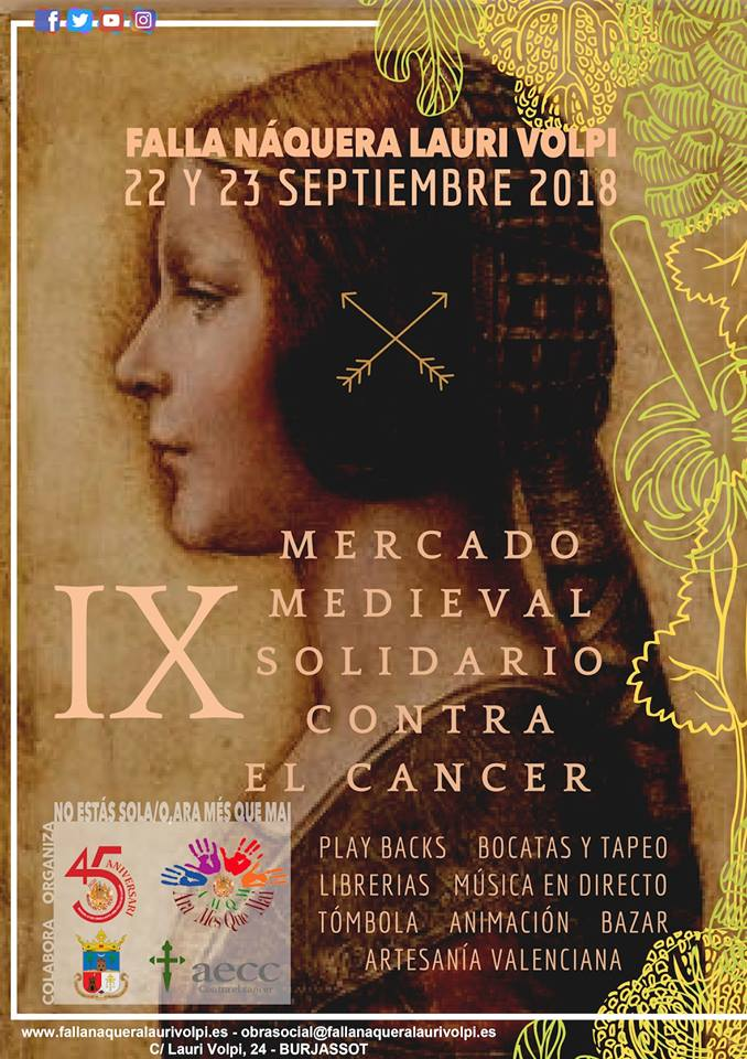 Burjassot es vist de solidaritat en el IX Mercat Medieval de la Falla Náquera- Lauri Volpi