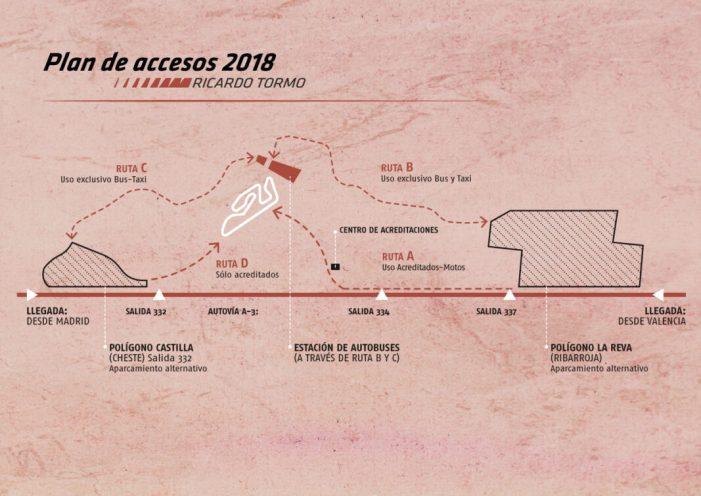 El Circuit Ricardo Tormo modifica el seu pla d'accessos de cara al Gran Premi Motul