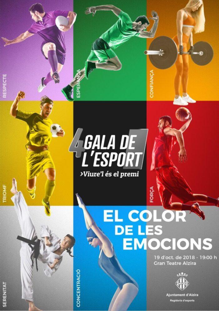 La quarta edició de la Gala de l'Esport se celebrarà el proper 19 d'octubre