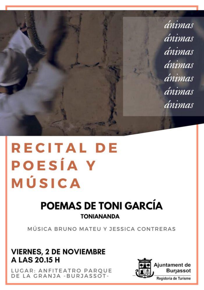 El burjassotense Toni Ananda celebra el Dia de les Ànimes amb un recital de poesia i música
